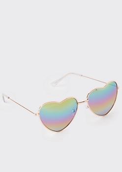 Rainbow Heart Eye Sunglasses