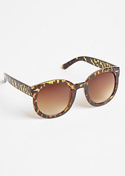 Tortoiseshell Oversize Round Sunglasses