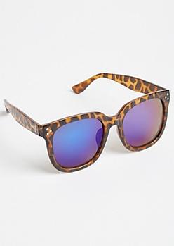 Tortoiseshell Frame Blue Lens Sunglasses
