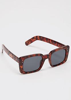 Tortoiseshell Thick Frame Sunglasses