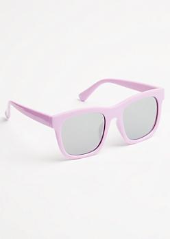 Lavender Mirrored Lens Sunglasses