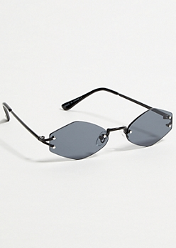 Black Geometric Small Sunglasses