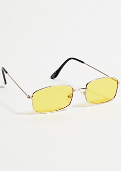 Yellow Rectangle Sunglasses