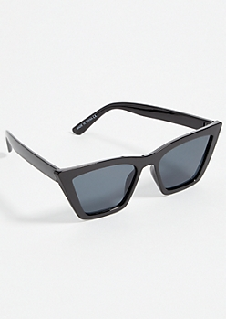 Black Smoky Square Cat Eye Sunglasses