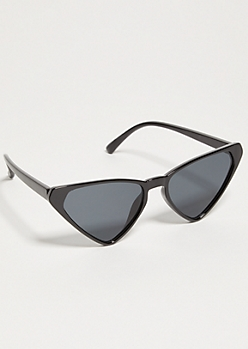 Black Skinny Cat Eye Sunglasses