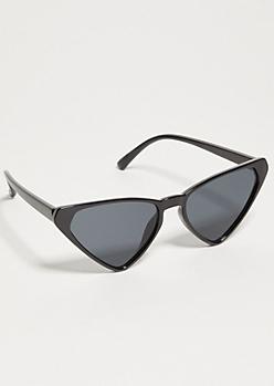 Black Skinny Cat Eye Sunglasses
