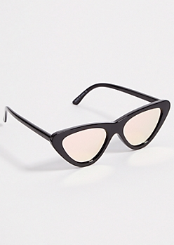 Black Rose Gold Cat Eye Sunglasses