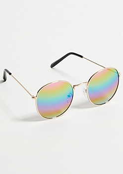 Rainbow Lens Round Sunglasses