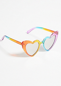 Rainbow Heart Eye Sunglasses