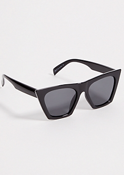 Black Smoky Cat Eye Square Sunglasses