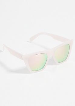 Rose Gold Cat Eye Square Sunglasses