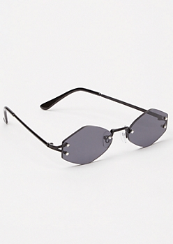 Black Asymmetric Sunglasses