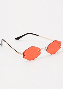 Red Asymmetric Sunglasses