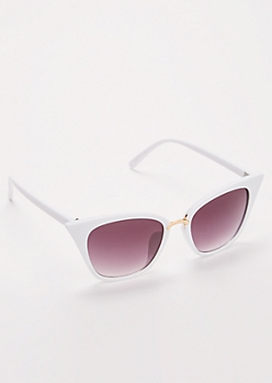 White Square Cat Eye Sunglasses