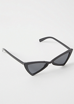 Black Bowtie Skinny Cat Eye Sunglasses