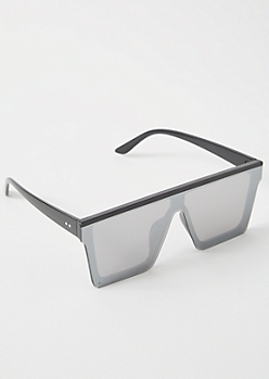 Black Mirrored Shield Sunglasses