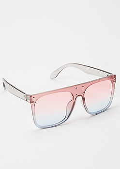 Pink Oversized Studded Sunglasses