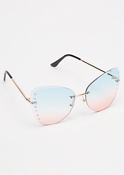 Ombre Rhinestone Sunglasses