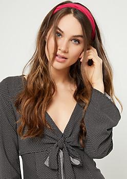 Fuchsia Cloth Headwrap