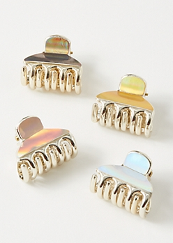 4-Pack Shine Claw Clips