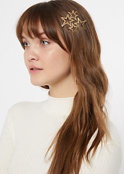 2-Pack Gold Star Hair Pin Set