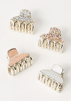 4-Pack Glitter Clip Set