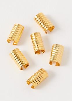 6-Pack Gold Braid Clip Set