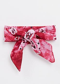 Pink Tie Dye Bandana