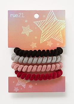 4-Pack Velvet Spiral Hair Tie Set