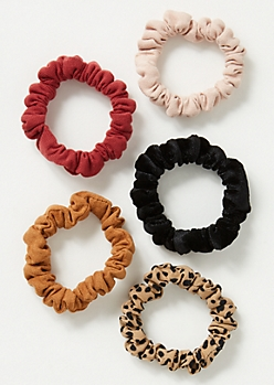 5-Pack Speckled Mini Scrunchie Set