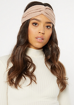 Blush Metallic Twist Knot Headband