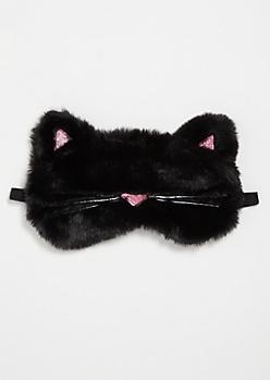 Black Cat Cozy Sleep Mask