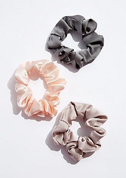 3-Pack Satin Scrunchies