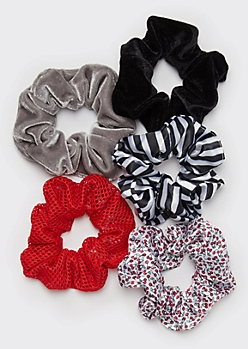 5-Pack E-Girl Cherry Scrunchie Set