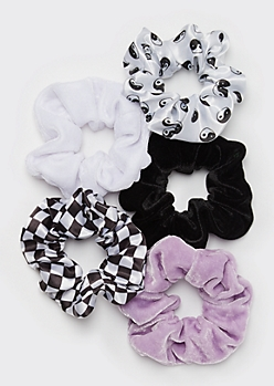 5-Pack Yin Yang Scrunchie Set