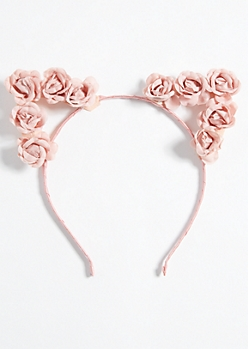Light Pink Flower Cat Ears