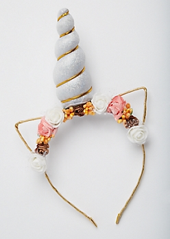 Unicorn Horn Flower Headband