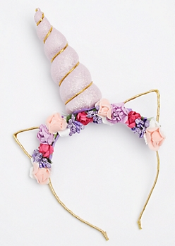 Floral Caticorn Headband