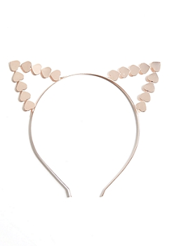 Rose Gold Heart Cat Ear Headband