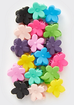 19-Pack Mini Flower Hair Clips