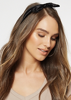 Black Velvet Bow Hair Wrap