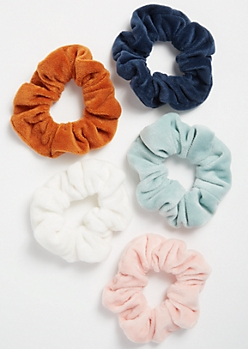 5-Pack Light Sunset Fuzzy Scrunchie Set