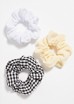 3-Pack Multi Gingham Scrunchies