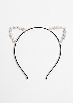Iridescent Gemstone Cat Ear Headband