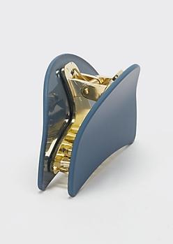 Blue Matte Claw Clip