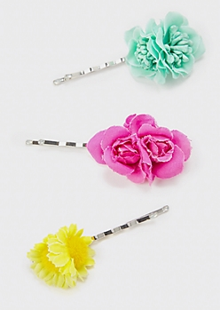3-Pack Wildflower Hair Pins