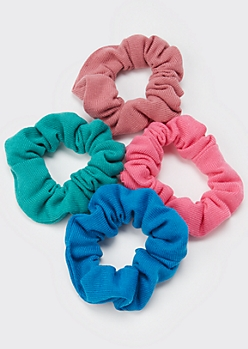 4-Pack Pastel Jersey Scrunchies