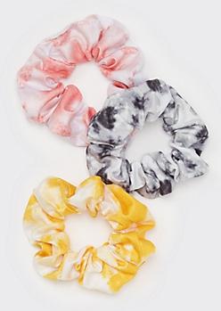 3-Pack Tie Dye Jersey Scrunchies