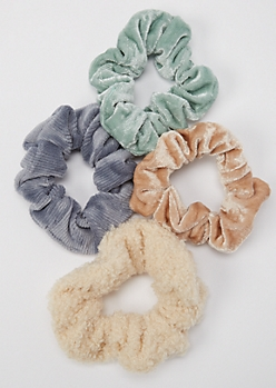 3-Pack Fall Fabrics Scrunchie Set