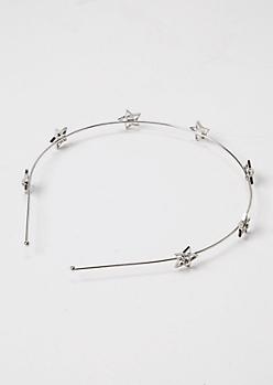 Silver Star Wire Headband